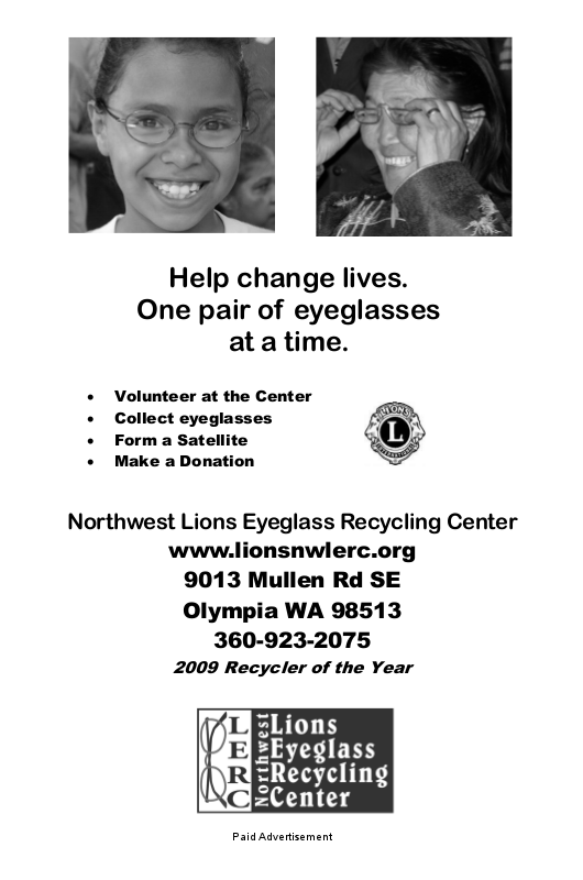 Northwest Lions Eyeglass Recycling Center